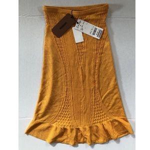 New Vintage 80's Missoni Gold 100% Silk Skirt